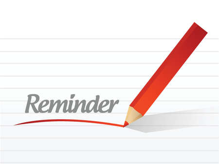 reminder message illustration design over a white background