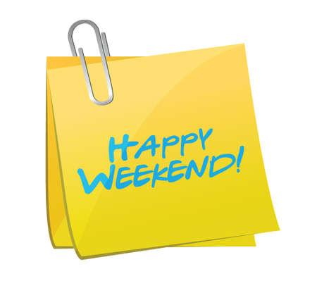 sunday: happy weekend post message illustration design over a white background Illustration