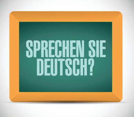 international students: do you speak german. sign message on a board. illustration design over a white background Illustration