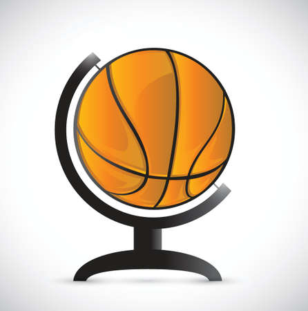 basketball on a rotation atlas illustration design over a white background Vector