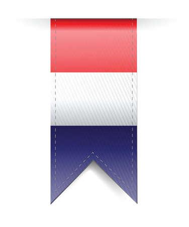 Netherlands flag banner illustration design over a white background Vector