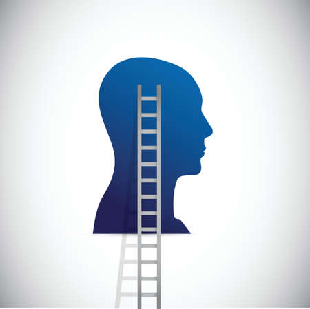 head and ladder illustration design over a white background