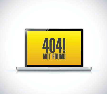 404 not found message on a computer. illustration design over a white background Stock Vector - 27968466