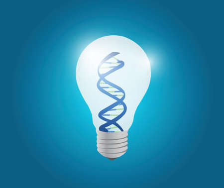 atom light bulb illustration design over a blue background Vector