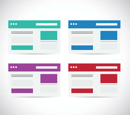 online form: different color set browser illustration design over a white background Illustration