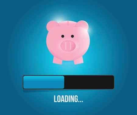 loading savings profits illustration design over a blue background Ilustrace