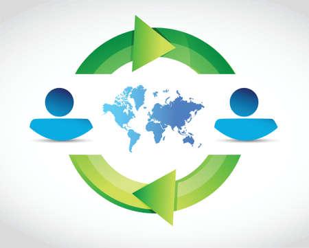 cyclus en avatar illustratie ontwerp op een witte achtergrond