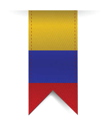 colombia flag: colombia flag banner illustration design over a white background