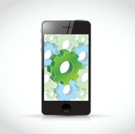 smart phone industrial concept illustration design over a white background