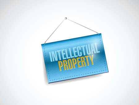 exclusive: intellectual property banner illustration design over a white background