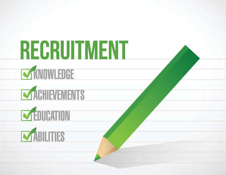 govern: recruitment check list illustration design over a white background