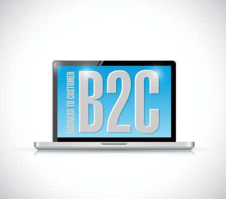 zakelijke klant bericht op een computer. illustratie ontwerp op een witte achtergrond Stock Illustratie