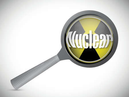 plutonium: nuclear investigation illustration design over a white background