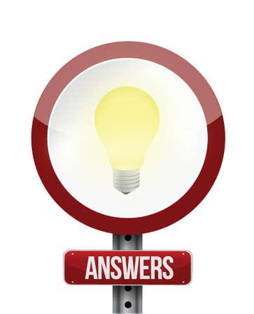 answer sign illustration design over a white background Vector