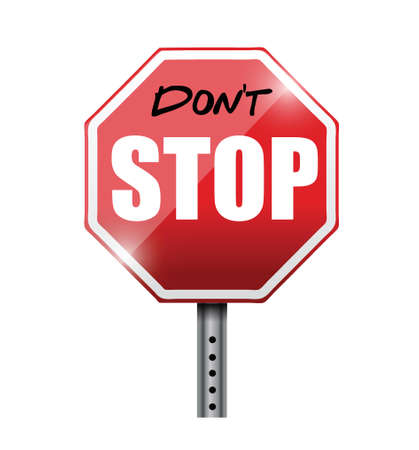 signal pole: do not stop illustration design over a white background