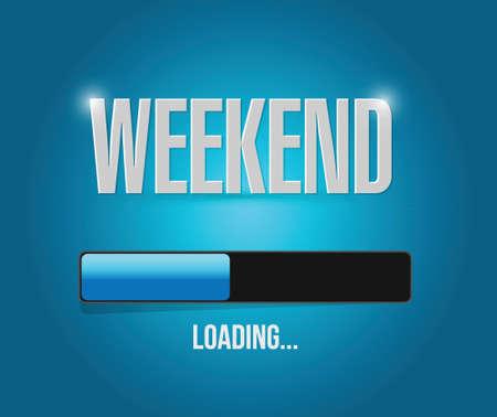 week end: fin de semana de dise�o de ilustraci�n sobre un fondo azul Vectores