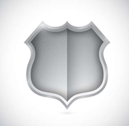 security shield illustration design over a white background
