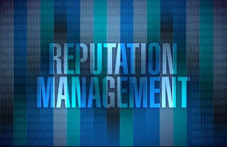reputation: reputation management graphic illustration design over a binary background