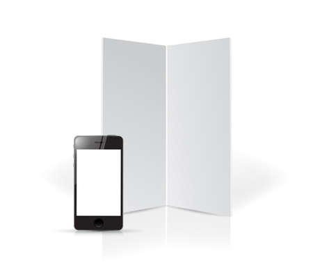 board and phone templates illustration design over a white background illustration