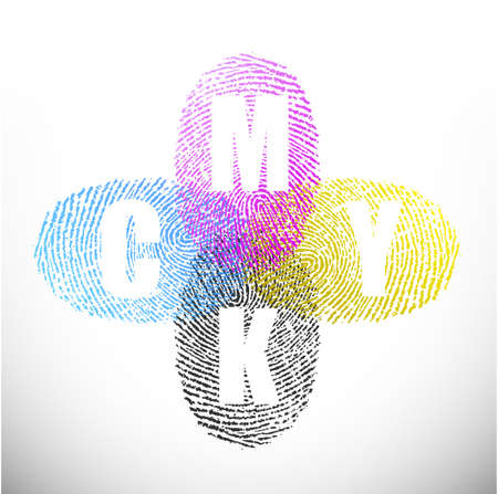Cmyk impression conception d'illustration sur un fond blanc Banque d'images - 27969390