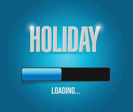 holiday loading concept illustration design over a blue background