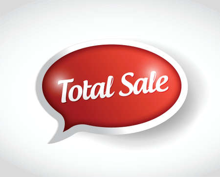 total sale message bubble illustration design over a white background