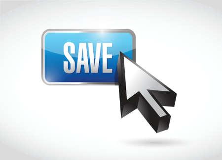 save blue button illustration design over a white background