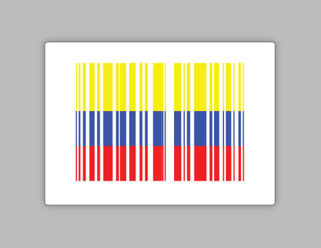 colombia barcode upc code illustration design over a grey background