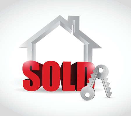 sold home concept illustration design over a white background