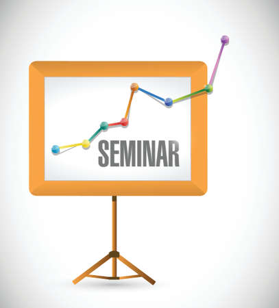 workshop seminar: seminar business education board illustration design over a white background