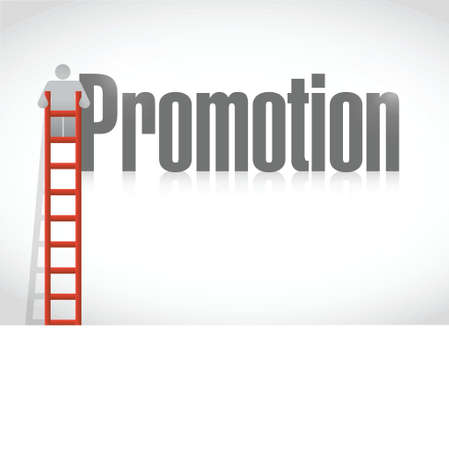 climbing the corporate ladder. promotion illustration design over a white background