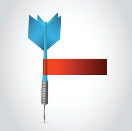 writing pad: blue dart and red blank sign illustration design over a white background