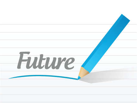 verifying: future sign message illustration design over a white background
