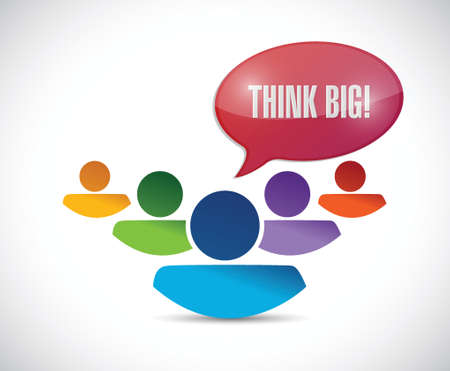 think big group of people illustration design over a white background Vector