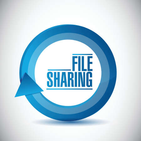 file sharing cycle illustration design over a white background Vector