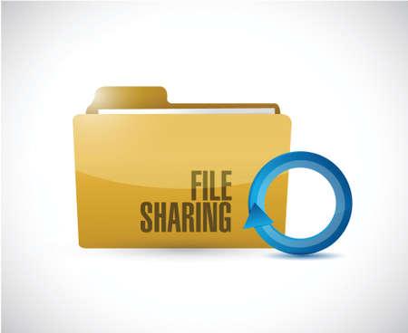 torrent: file sharing folder cycle illustration design over a white background Illustration