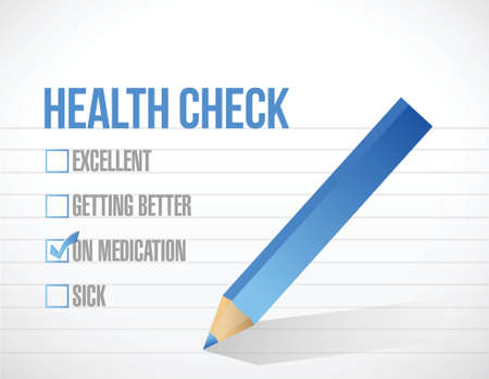 health care check mark list illustration design over a white background Stock Illustratie