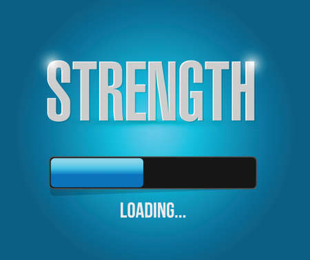 strength loading concept illustration design over a blue background Vector