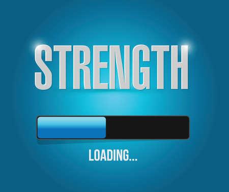 strength loading concept illustration design over a blue background Иллюстрация