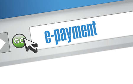 mobile banking: e payment browser illustration design graphic background
