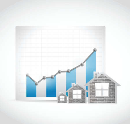 upgrowth: raising real estate business market illustration design over a white background Illustration