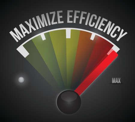maximize: maximize efficiency marker illustration design over a black background