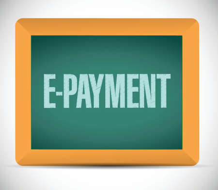 epayment: e payment on board. illustration design over a white background