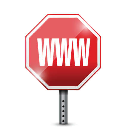 www at sign: internet www sign illustration design over a white background
