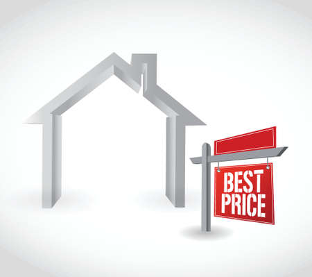 best price real estate sign illustration design over a white background