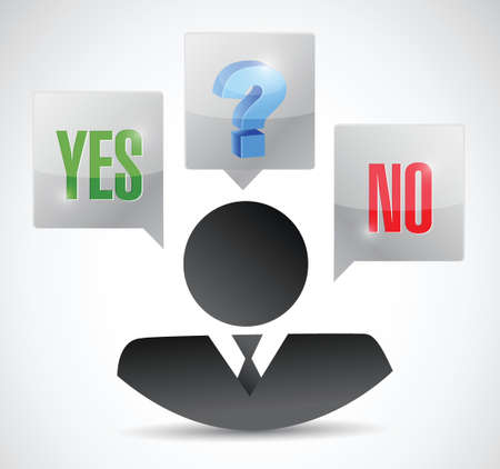 yes no maybe business decision illustration design over a white background Vector