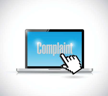 online klachten concept illustratie ontwerp op een witte achtergrond Stock Illustratie