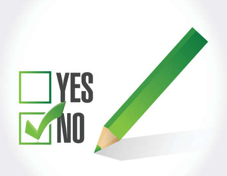 no selection on a check list illustration design over a white background Illustration