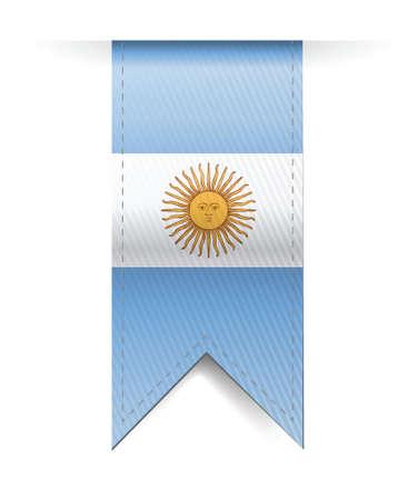 argentina flag banner illustration design over a white background Vector