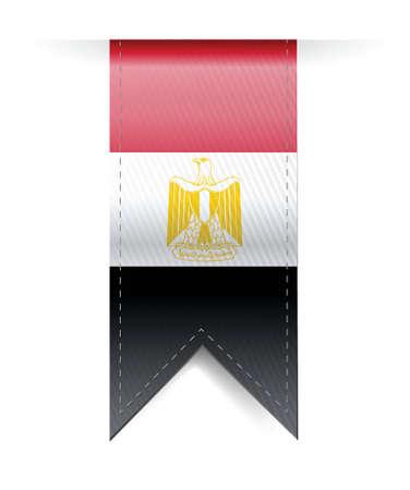 egypt flag banner illustration design over a white background Vector